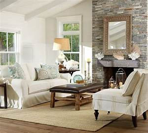 Living room pottery barn for the home pinterest for Pottery barn living room images