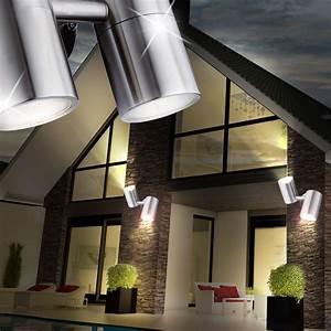 Led Lampen Außenbereich : 2er set led wandleuchten aus edelstahl f r den au enbereich unsichtbar lampen m bel ~ Buech-reservation.com Haus und Dekorationen