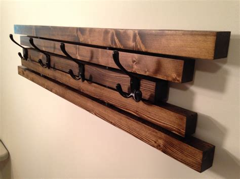 wall coat rack rustic wall mount wooden coat rack 4 hook coat hanger