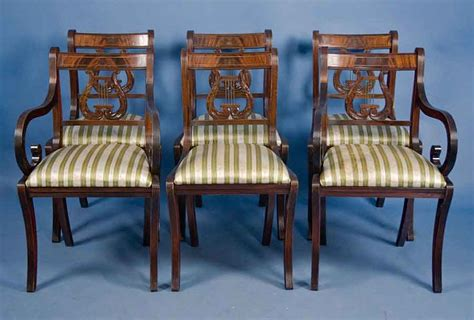 set of 6 mahogany dining chairs for sale antiques