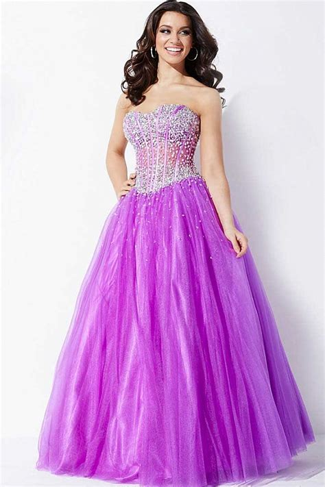 light purple gown light purple strapless a line gown with