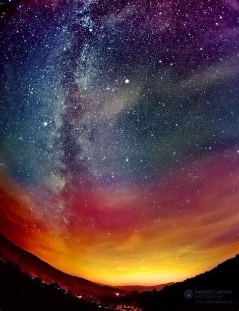 Night Sky Nature Beautiful Landscape