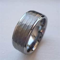 mens tungsten wedding rings 9mm tungsten carbide 39 s wedding band ring brushed finish hammered cut sz 6 15 ebay
