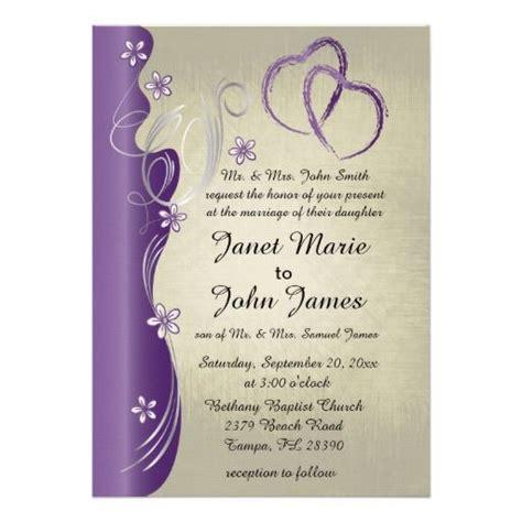 Vintage Classy Curvy Design Amethyst Purple Invitation