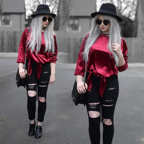 Maybe you would like to learn more about one of these? Sammi Jackson - Zaful Sunglasses, Tosave Velvet Top, Choies Ripped Jeans, Choies Fishnets, Oasap ...