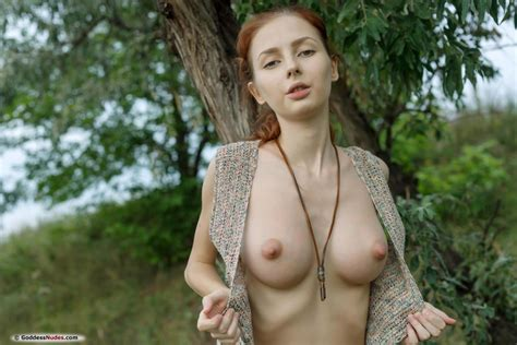 Olivia I Nude Busty Redhead In The Outdoors