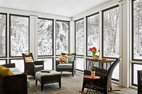 sunporch sunroom sun room in winter farmhouse porch portland maine