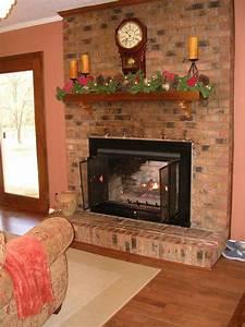 Painted, Brick, Fireplace
