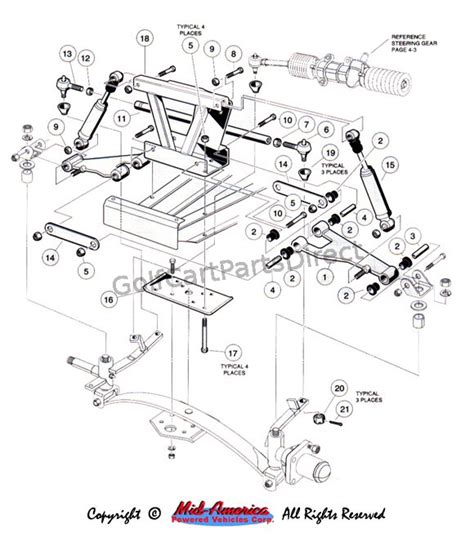 Ezgo Golf Cart Differential Diagram by Yamaha G2 Parts Diagram Front Suspension