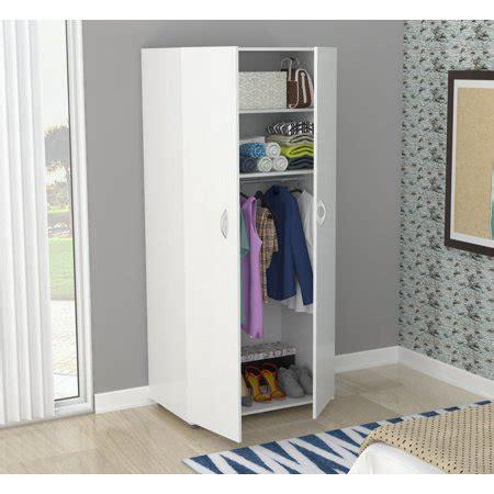 Armoire Wardrobe Walmart by Inval Contemporary Laricina White Two Door Wardrobe