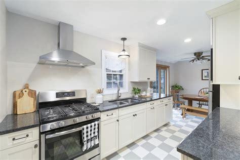modern white galley kitchen rhode kitchen bath design