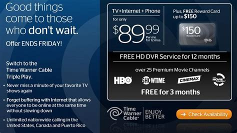 Time Warner Cable Package Deals