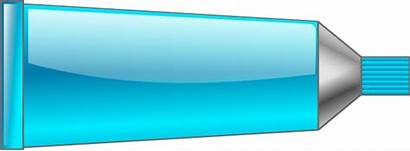 Tube Clipart Cyan Clip Toothpaste Cliparts Clker