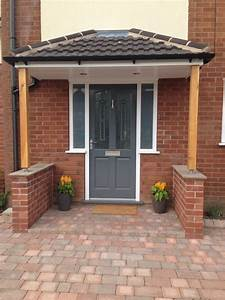 Richmond style front door painted in gallant grey by for Porch interior ideas uk