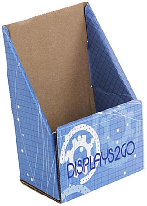 custom cardboard brochure holder uv printing
