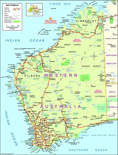maps western australia map