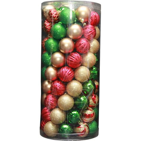 holiday time 101 piece shatterproof christmas ornaments