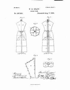 1888 Patent Us387563 - Dress-form
