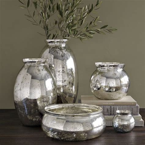 Mercury Glass Vases  Contemporary  Vases  By West Elm
