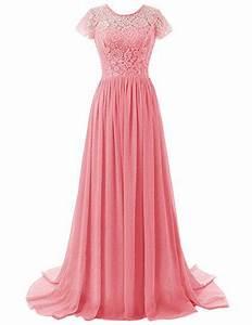 Kleid Koralle Hochzeit : beonddress damen lange brautjungfer kleid chiffon abendkleid abendkleid mit rmeln koralle 32 ~ Orissabook.com Haus und Dekorationen