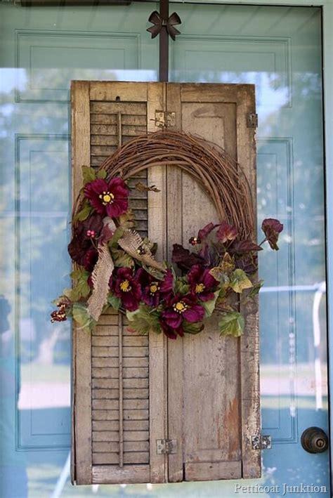 shutter outdoor decor ideas  designs