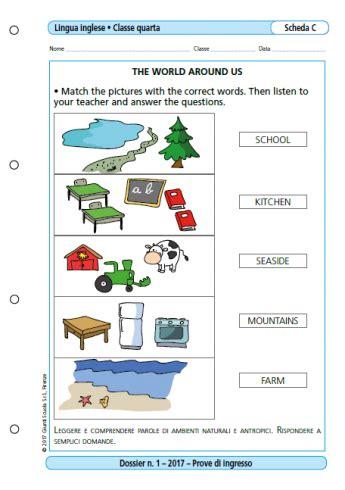 prove d ingresso lingua inglese scuola primaria prove d ingresso lingua inglese classe 4 la vita