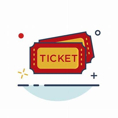Ticket Carnival Icon Outline Circus Filled Tickets
