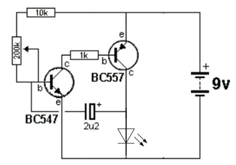Capacitor Changing The Frequency Flashing Led