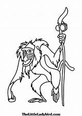Rafiki Lion King Monkey Coloring Simba Drawing Printable Animals Coloringonly Mandala Categories Tree Getdrawings Template Sketch sketch template