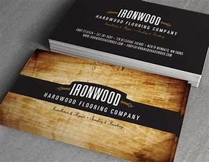 Ironwood hardwood flooring business cards on behance for Wood flooring business cards