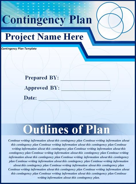 contingency plan   word templates