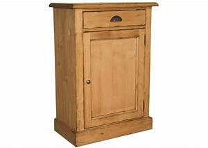 Petit Meuble Metal : acheter votre petit meuble en pin massif 1 porte 1 tiroir poign e m tal chez simeuble ~ Teatrodelosmanantiales.com Idées de Décoration