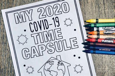 covid  time capsule coloring pages  kids  adults