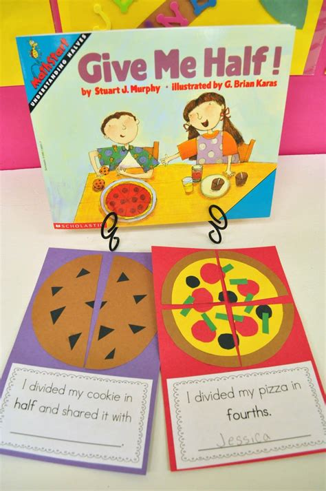 "Mrs Ricca's Kindergarten Yummy Fractions! {freebie} ""i Divided My Cookie In Half And Shared It"