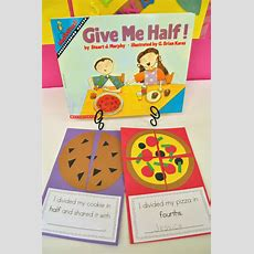 """Mrs Ricca's Kindergarten Yummy Fractions! {freebie} """"i Divided My Cookie In Half And Shared It"""
