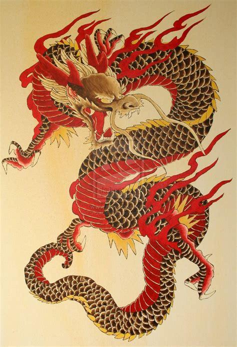 traditional japanese artwork depicting  dragon   creature   sky