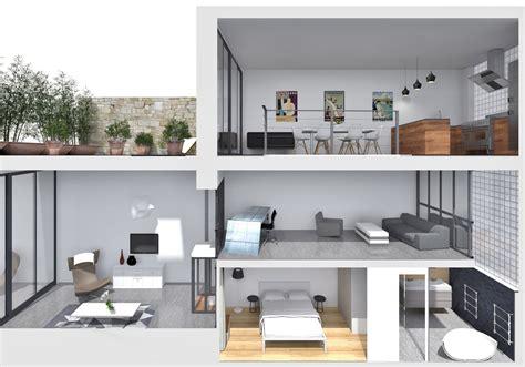 salle de bain chambre parentale loft industriel réorganisé sur 4 plateaux architecte d
