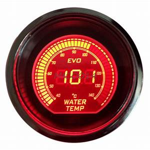 Hs Red  U0026 Blue 2 U0026quot  52mm Digital Led Evo Water Temperature