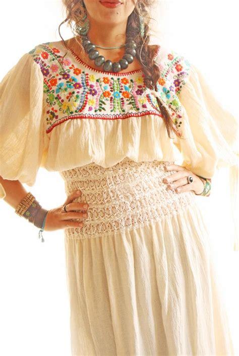 handmade mexican embroidered dresses  vintage treasures  aida coronado goddess mexican