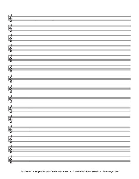 Music Sheet - Treble Clef by Sizuubi on DeviantArt