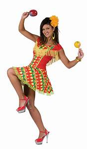 mexican fiesta girl costume fancy dress forever With robe cubaine