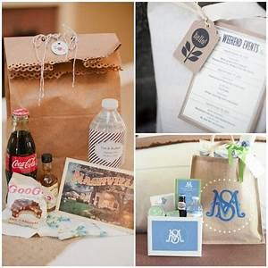 Wedding wednesday welcome bag ideas for Wedding welcome bag ideas
