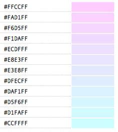 pastel color codes rgb and hex codes for different skin and hair tones