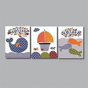 Nautical nursery art prints baby decor kids wall