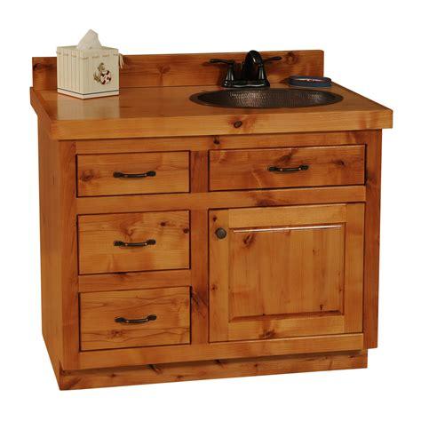 Rustic Alder Bathroom Vanity The Log Furniture Store