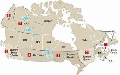 Weather Almanac Forecast Canada Map Report Region