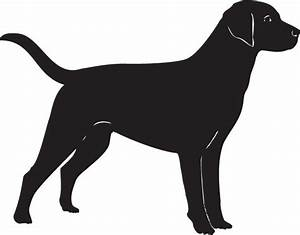 Short haired dogs vector silhouettes