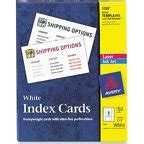 Avery Laser Inkjet Printers Index Cards White 150 Per Avery 8371 Perforated Inkjet Business Card Walmart