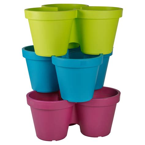 assorted plastic plant flower pot garden holder pots planter herb coloured new ebay