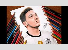 Drawing Mesut Ozil shared by Ozil on his official